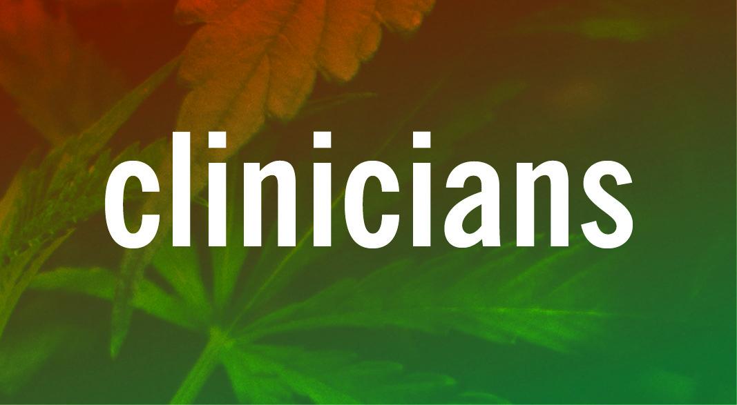 CLINICIANS #CANNABISIQ